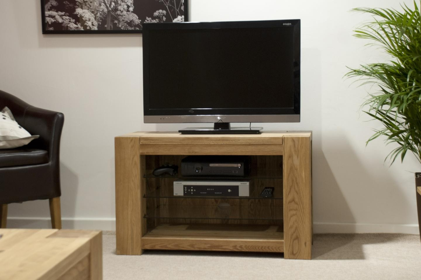 Trendy Rhino Oak Small Tv Unit Within Small Oak Tv Cabinets (View 17 of 20)