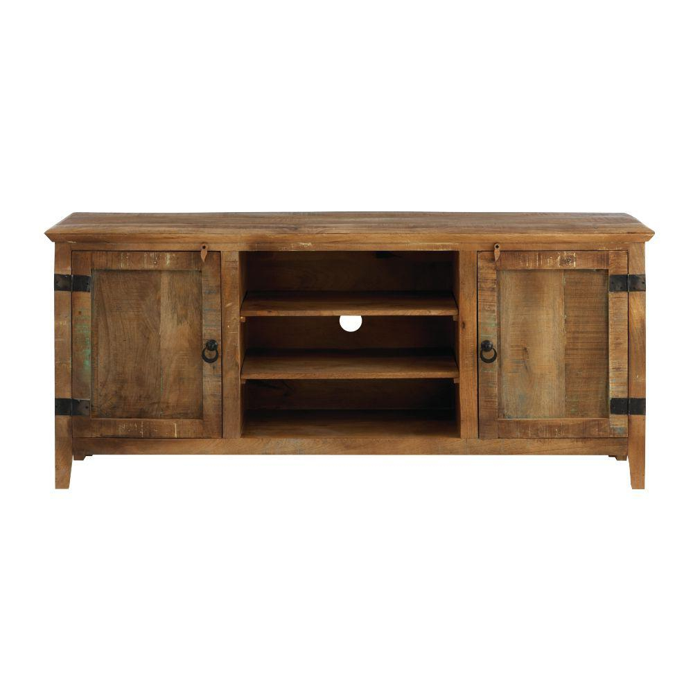 Trendy Rustic Looking Tv Stands Pertaining To Home Decorators Collection Holbrook Natural Reclaimed Storage (View 7 of 20)
