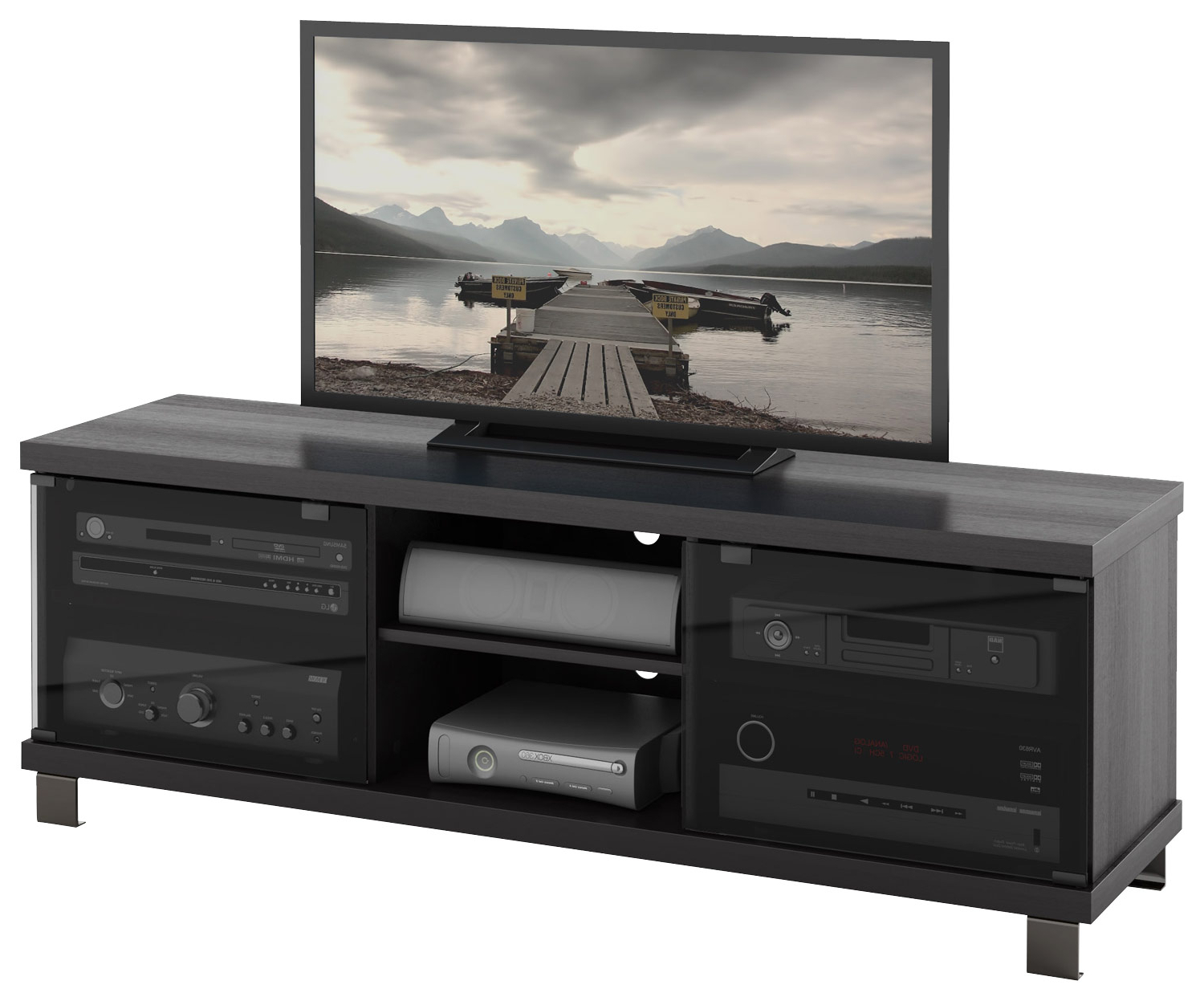 "Trendy Sonax Tv Stand For Tvs Up To 68"" Black Hc 5590 – Best Buy Inside Sonax Tv Stands (View 11 of 20)"