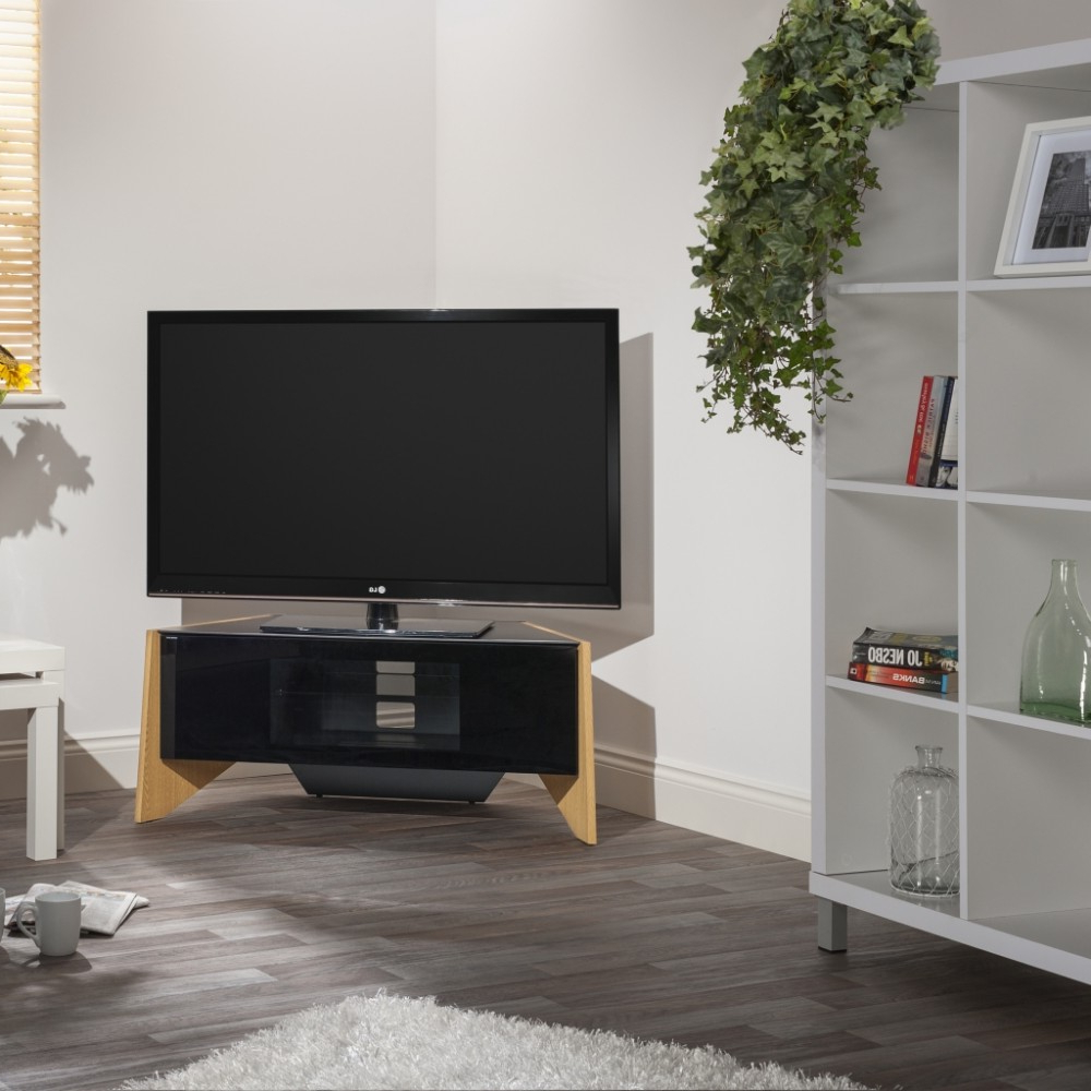 Trendy Techlink Riva Tv Stands Intended For Handle Less Drop Down Door; Screens Up To (View 7 of 20)