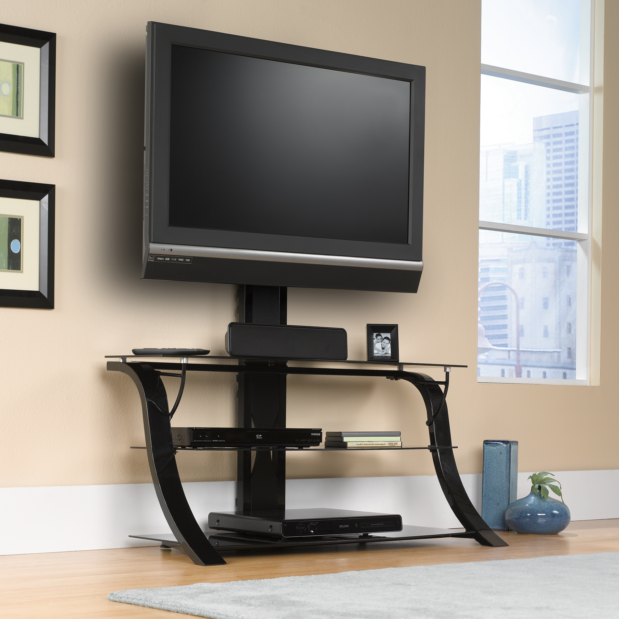 Trendy Tv Stand With Mount Corner Stands Wood Armoire Flat Panel Fireplace Inside Wayfair Corner Tv Stands (View 8 of 20)