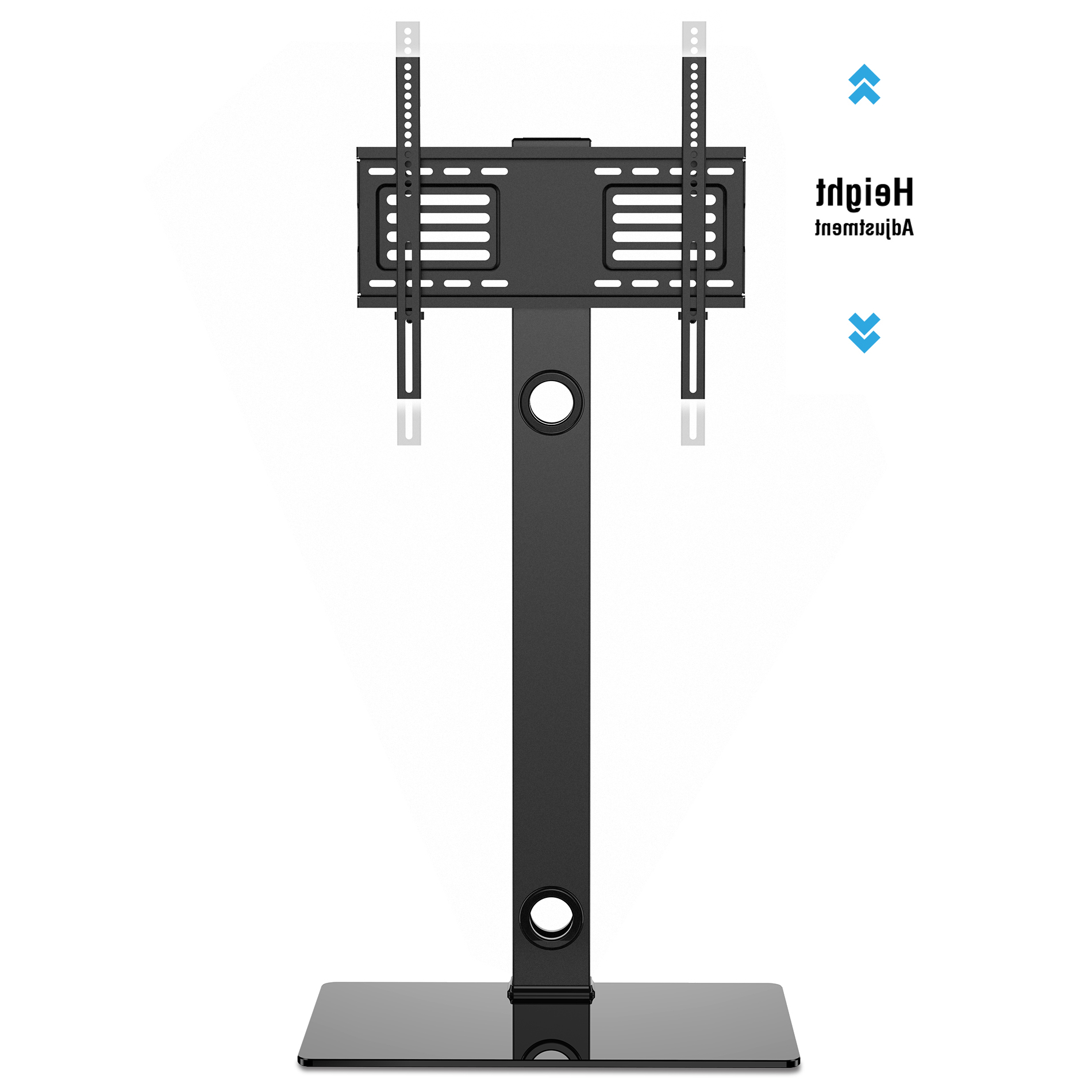 """Trendy Universal Floor Swivel Tv Stand Base With Mount For 26"""" To 55"""" Tv With Tv Stands Swivel Mount (View 7 of 20)"""