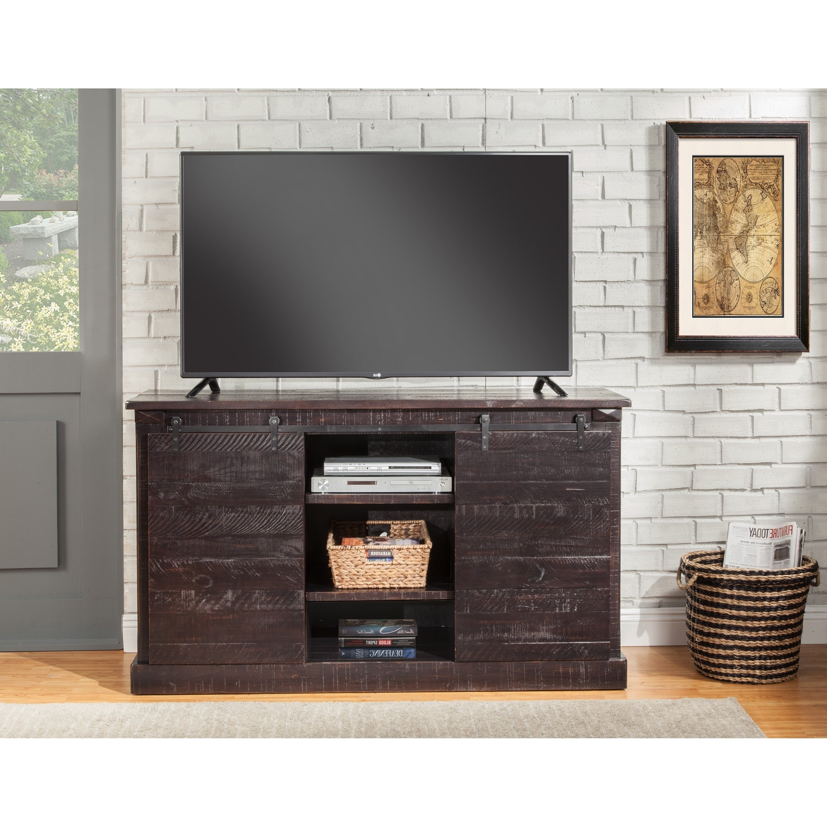 Trendy Wakefield 97 Inch Tv Stands Intended For Buy Black, Rustic Tv Stands & Entertainment Centers Online At (View 13 of 20)