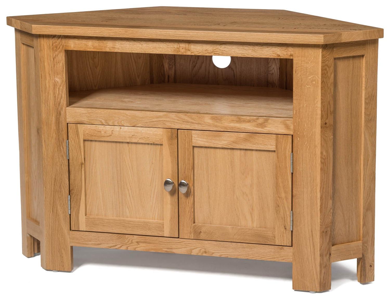Trendy Waverly Oak 2 Door Corner Tv Stand Unit (View 17 of 20)