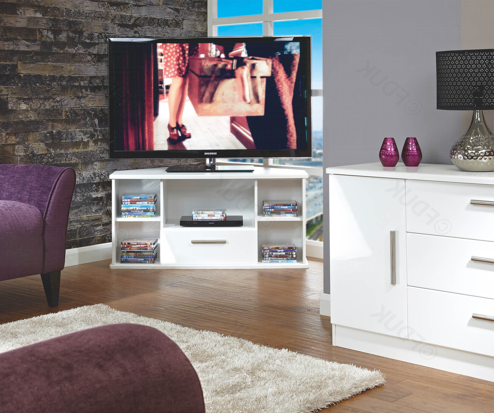 Trendy Welcome Furniture Living Room Wooden Corner Tv Unit Fduk Throughout High Gloss Corner Tv Units (View 16 of 20)