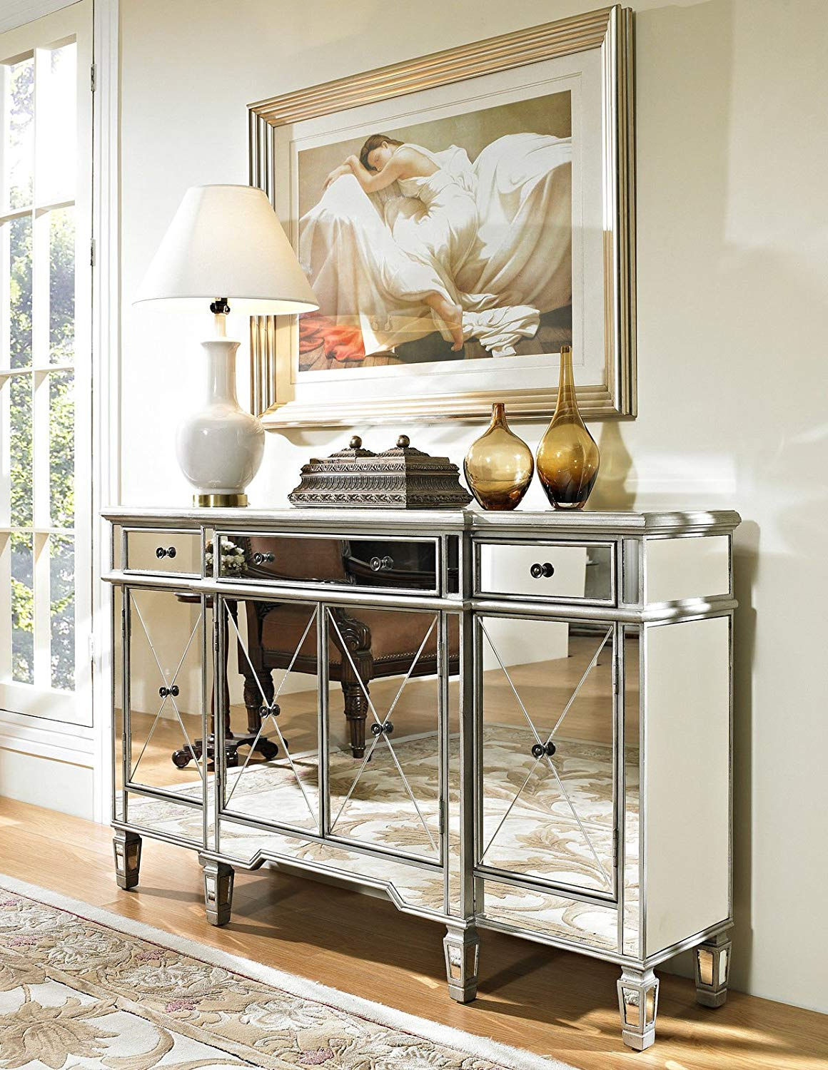 Trendy White Mirrored Tv Cabinet With Stand Plus Together As Well With Mirrored Tv Cabinets Furniture (View 8 of 20)