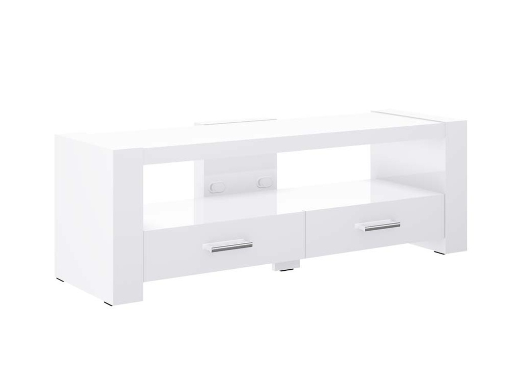 Trendy White Tv Cabinets Inside Monaco 2 White Tv Stand (View 12 of 20)