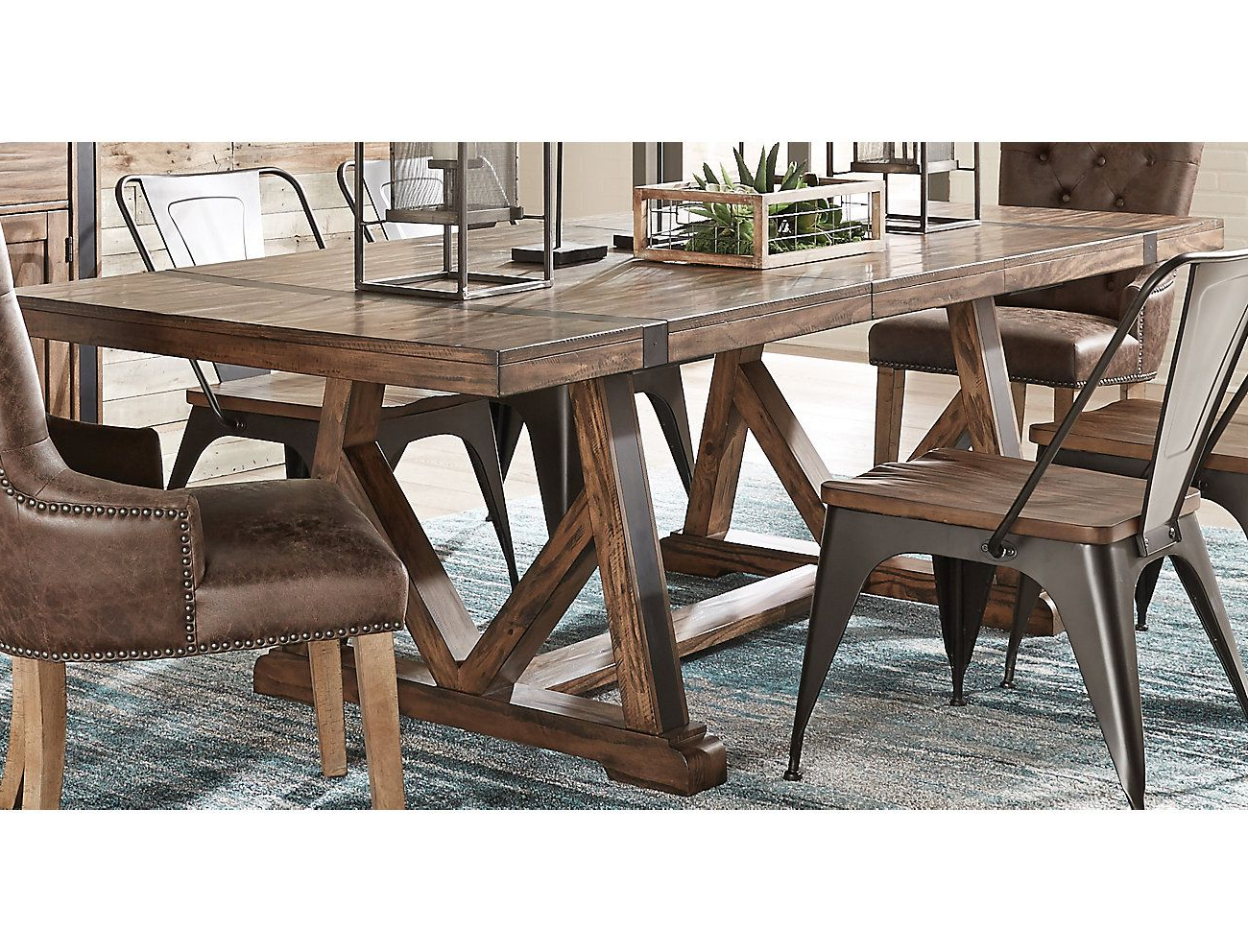 Trestle Dining Tables Regarding Parsons Travertine Top & Brass Base 48X16 Console Tables (View 17 of 20)