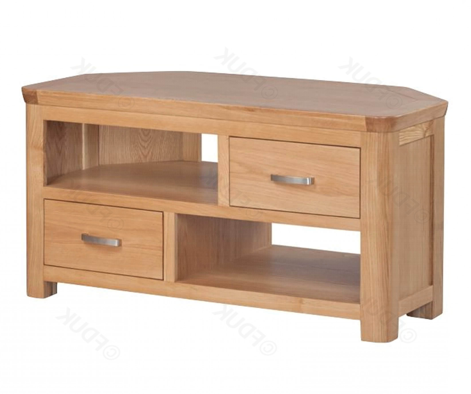 Treviso Solid Oak Corner Tv Unit (View 19 of 20)