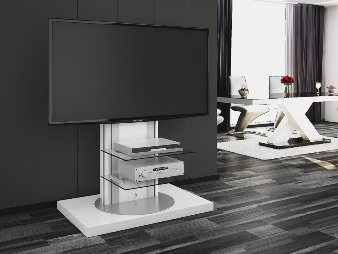 Turntable Tv Stands In Popular Furniture: Modern Swivel Tv Stand For Your Living Room (View 5 of 20)