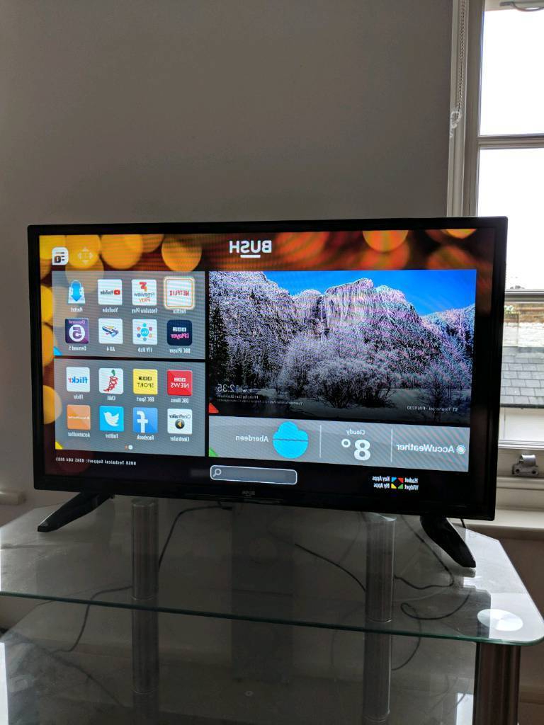Tv: Bush 32 Inch Hd Ready Smart Tv (+optional Tv Stand For £15 Extra Regarding Most Up To Date 32 Inch Tv Stands (View 17 of 20)