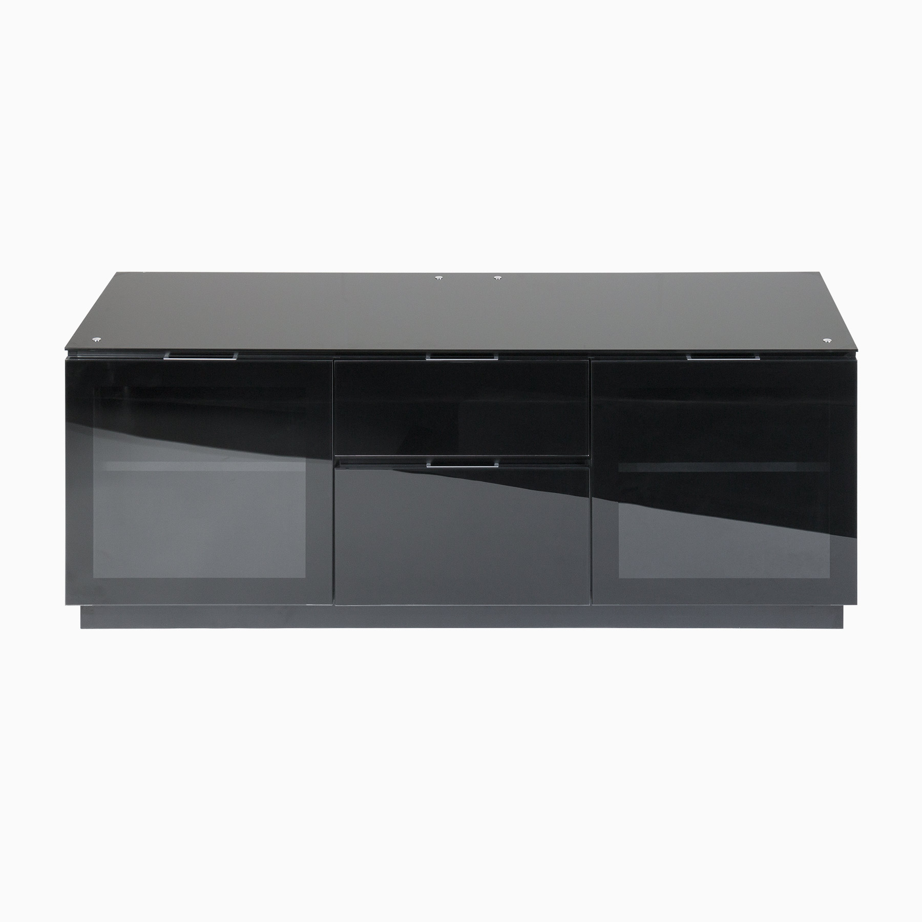"Tv Cabinet With Doors And Drawers For Up To 65"" Screens Intended For Newest Black Gloss Tv Units (View 19 of 20)"
