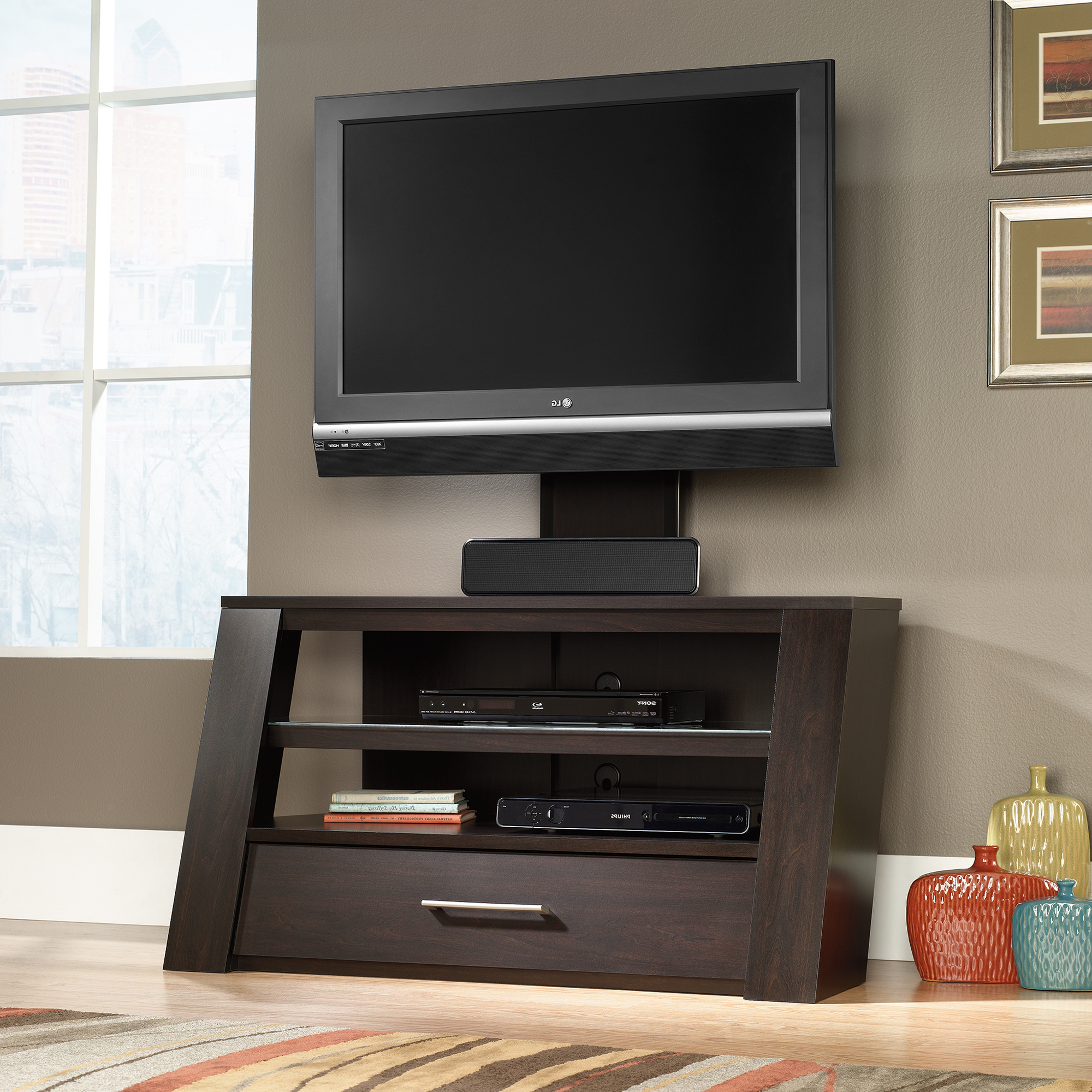 Tv Cabinets Pertaining To Trendy Sauder Select (View 13 of 20)