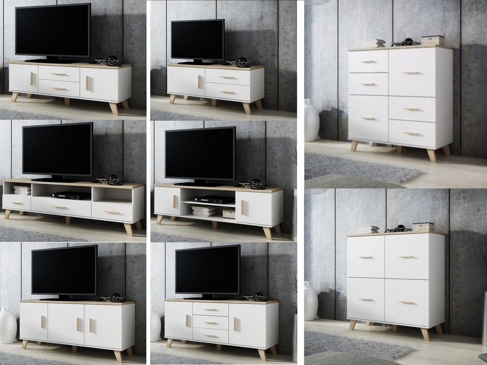 Tv Display Cabinets In Favorite White & Oak Living Room Furniture – Tv Cabinets Sideboards Display (View 9 of 20)