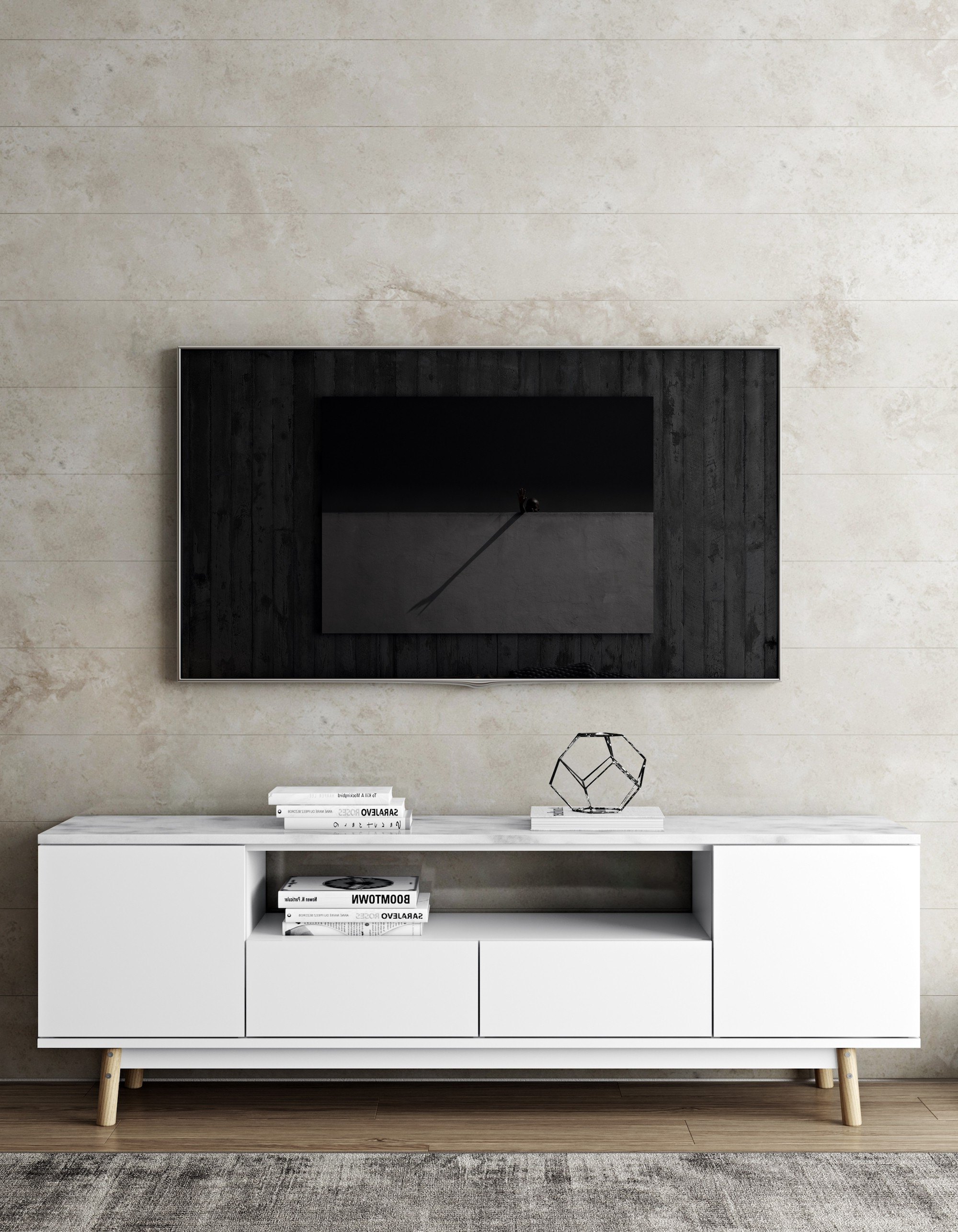 Tv Entertainment Unit With Regard To Fashionable Lyon Tv/entertainment Unit – Marble Top – Style Our Home (View 7 of 20)