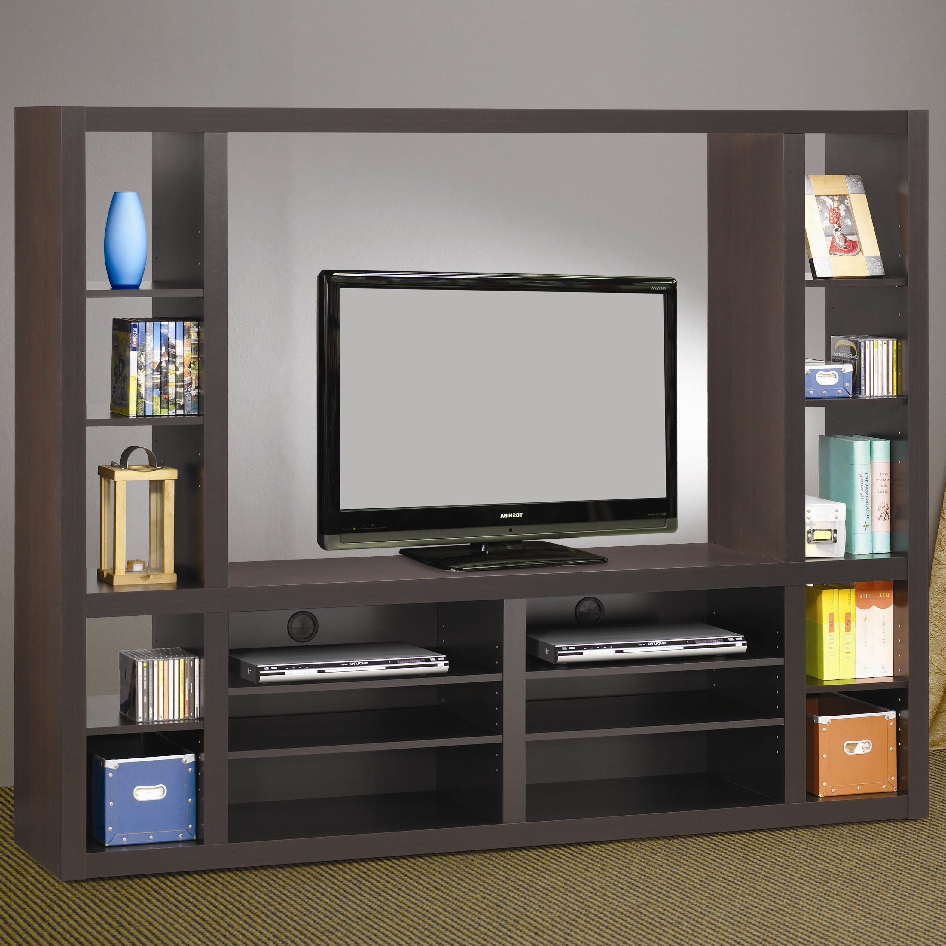 Tv Entertainment Units For Widely Used Coaster Entertainment Units 700620 Contemporary Entertainment Wall (View 16 of 20)