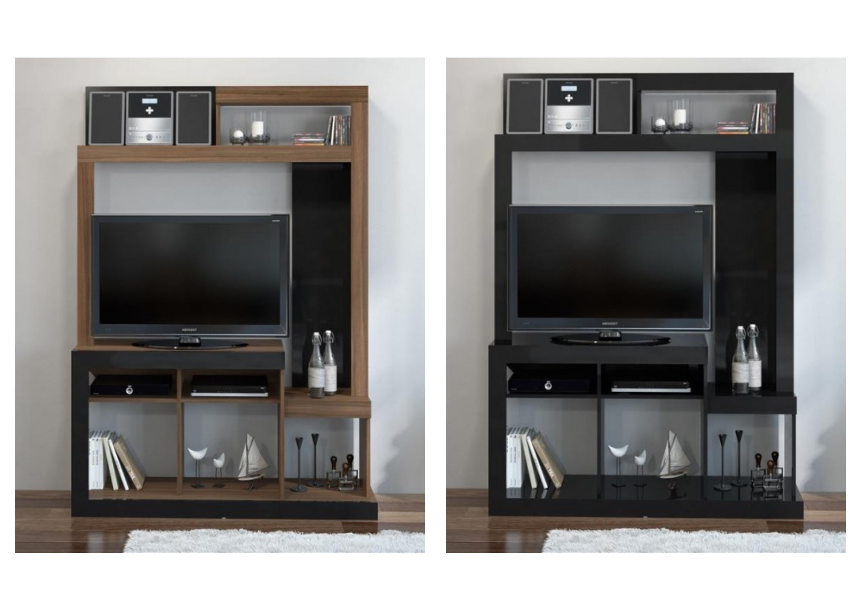 Tv Entertainment Units Within Widely Used Birlea Orka Tv Entertainment Units – Tv Unit Stand – Black, Walnut (View 12 of 20)