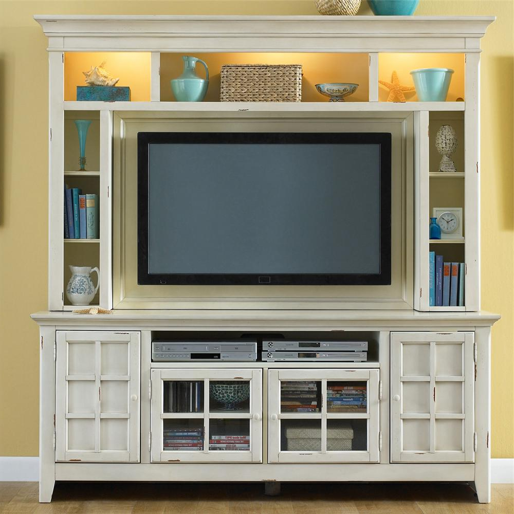 Tv Hutch Cabinets In Most Current New Generation Painted Entertainment Center With Flat Screen Tv Mounting Arealiberty Furniture At Wayside Furniture (View 5 of 20)