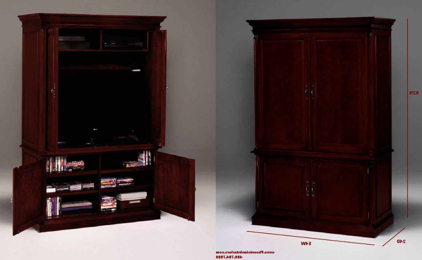 Tv Hutch Cabinets In Most Current Tv Armoire Cabinet Furniture Black Tall Corner Tv Cabinet With (View 12 of 20)