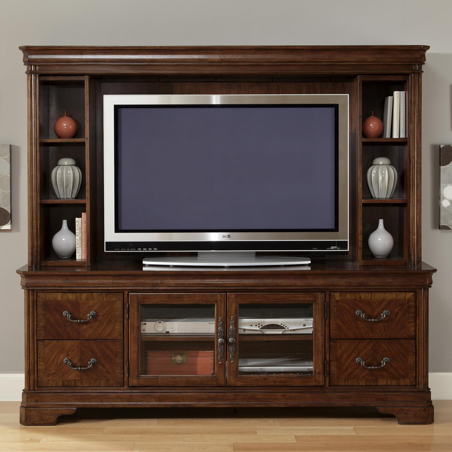 Tv Hutch Cabinets In Well Known Entertainment Tv Stand & Hutchliberty Furniture (View 8 of 20)