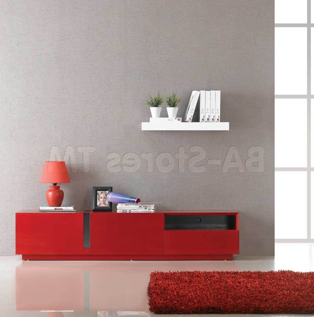 Tv / Plasma Stands And Armoires Within Well Known Red Modern Tv Stands (View 1 of 20)