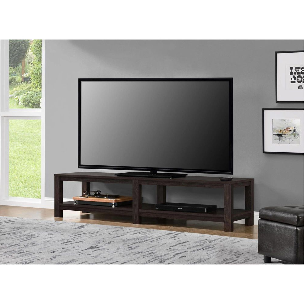 Tv Stand 65 Inch Flat Screen Entertainment Media Home Center Console Within Well Known Low Profile Contemporary Tv Stands (View 15 of 20)