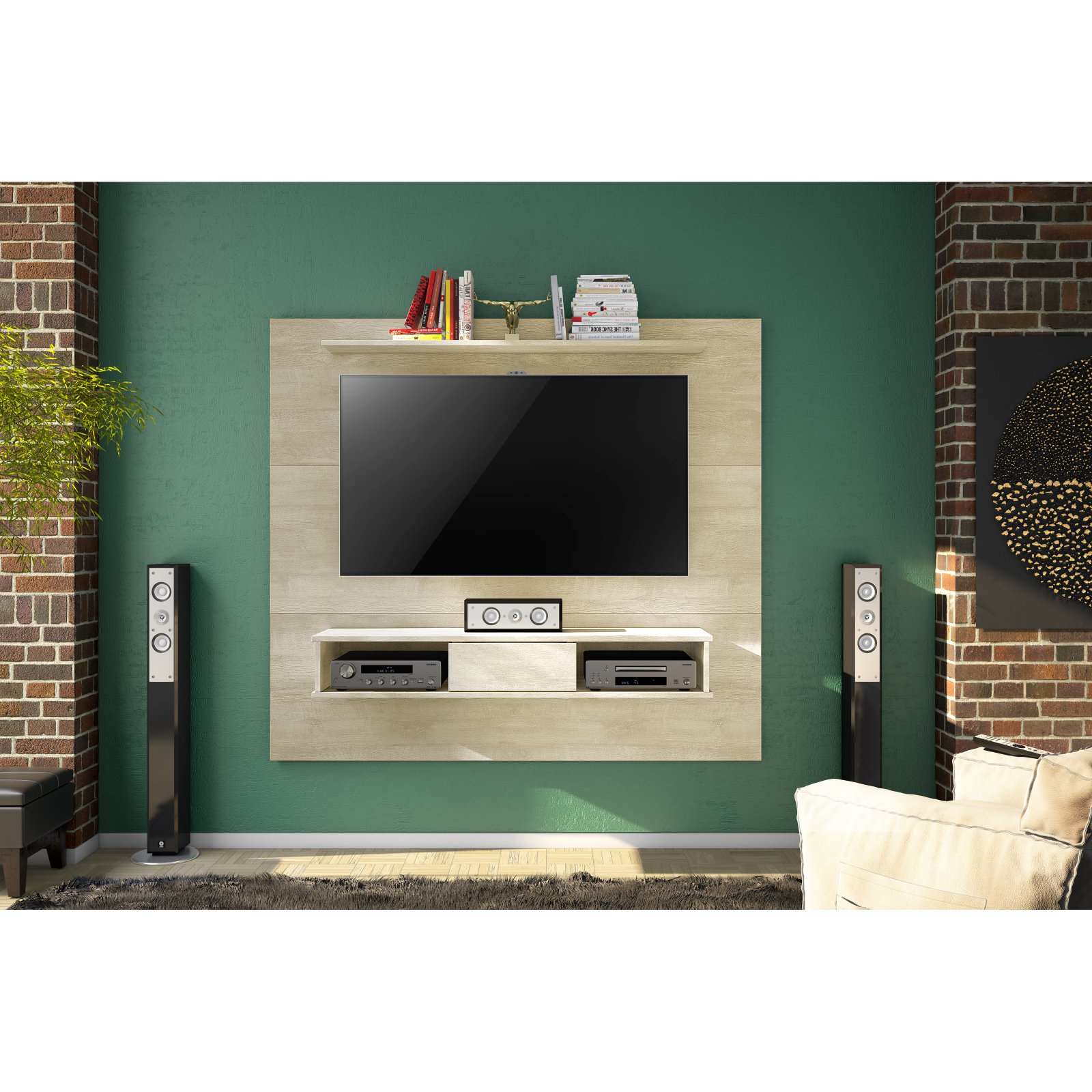 Tv Stand Wall Units For 2018 Floating Entertainment Center Rustic Wall Unit Mount Media 70 Inch (View 11 of 20)