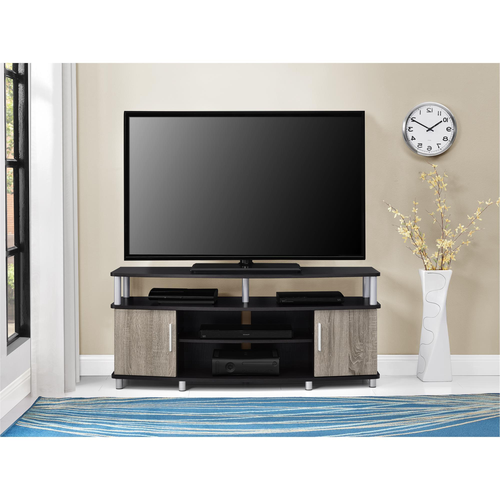 Tv Stands 38 Inches Wide Inside Well Known Shop Ameriwood Home Carson 50 Inch Espresso/ Sonoma Oak Tv Stand (View 5 of 20)