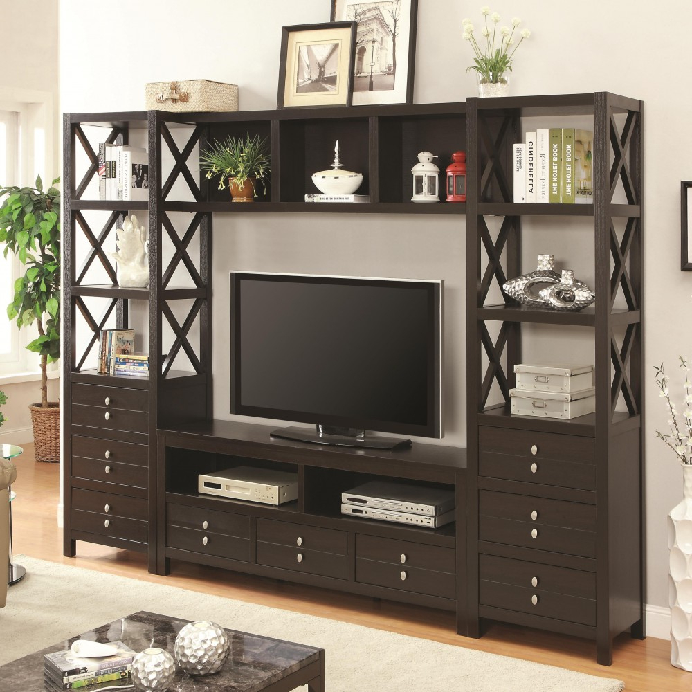 Tv Stands And Bookshelf Regarding Most Up To Date Media Tower For Tv Stands With 3 Drawers And 3 Shelves/bookshelf (View 5 of 20)