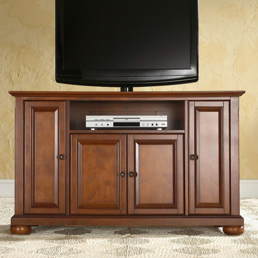 Tv Stands And Cabinets For Famous Crosley Furniture Alexandria Classic Cherry Tv Cabinet At Lowes (View 6 of 20)