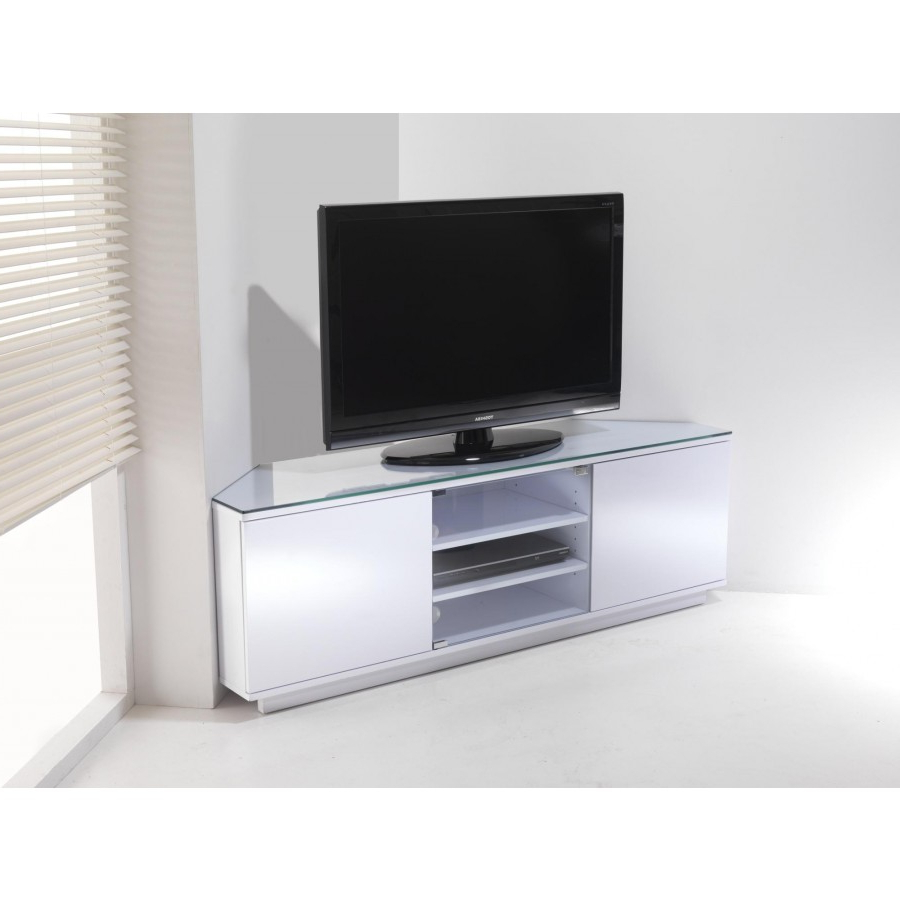 Tv Stands Best Assembled White Corner Tv Stands Collection White Tv Within Fashionable High Gloss Corner Tv Units (View 17 of 20)