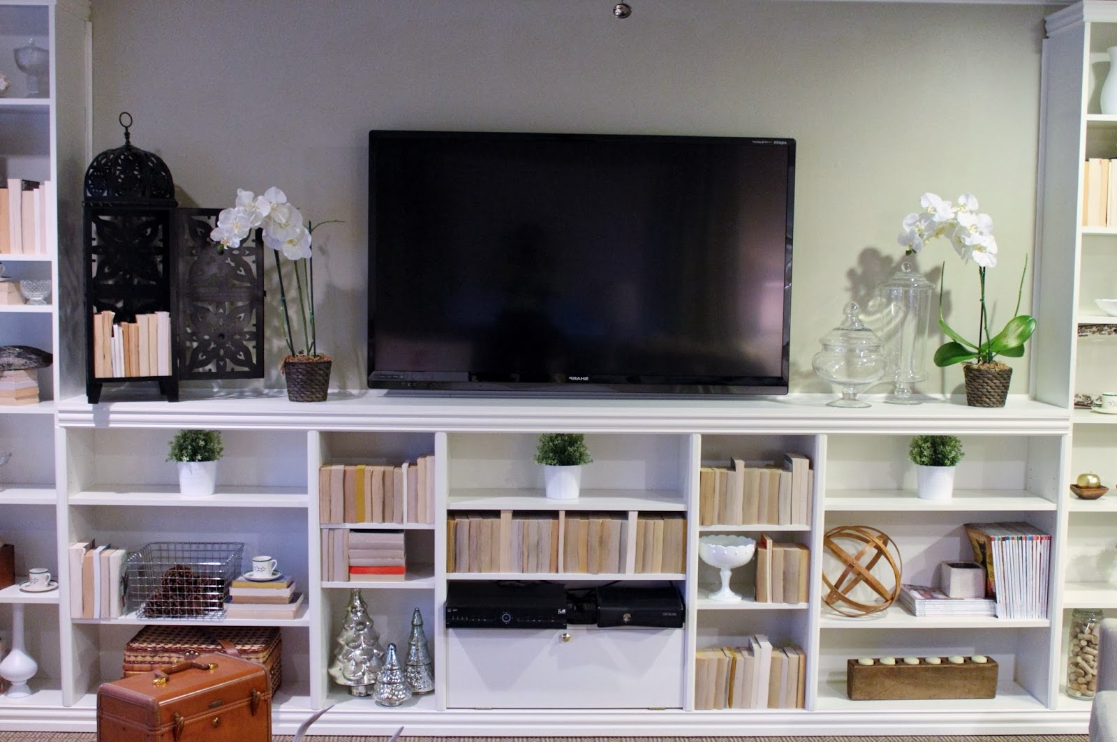 Tv Stands Costco Walmart 55 Inch Ikea Stand Hemnes Bookshelves With With Popular Tv Stands And Bookshelf (View 9 of 20)