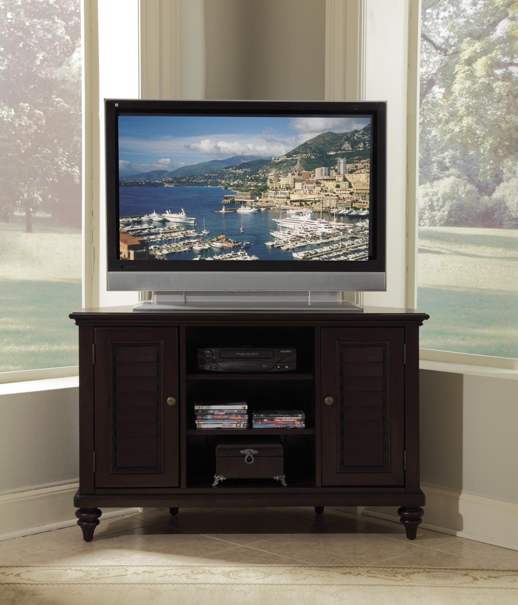 Tv Stands For Corner With Regard To Popular Bermuda Espresso Corner Tv Stand – Walmart (View 17 of 20)