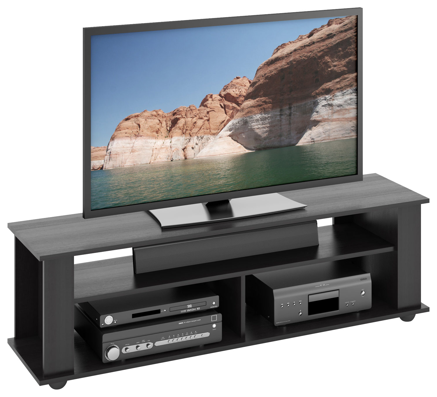 Tv Stands For Large Tvs Within Favorite Corliving Bakersfield Tv Stand For Most Flat Panel Tvs Up To (View 18 of 20)