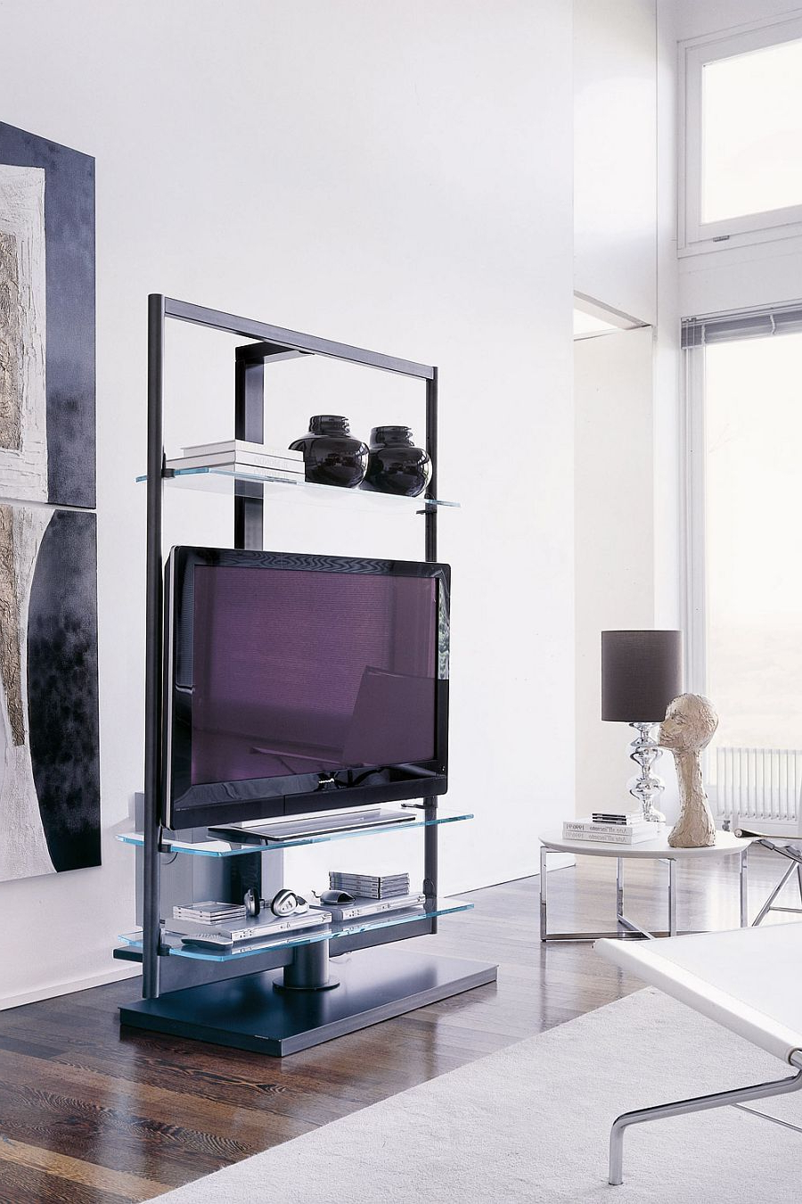 Tv Stands For Small Rooms In Well Known Modern Tv Stand That Is Both Minimal And Functional – Decoist (View 6 of 20)
