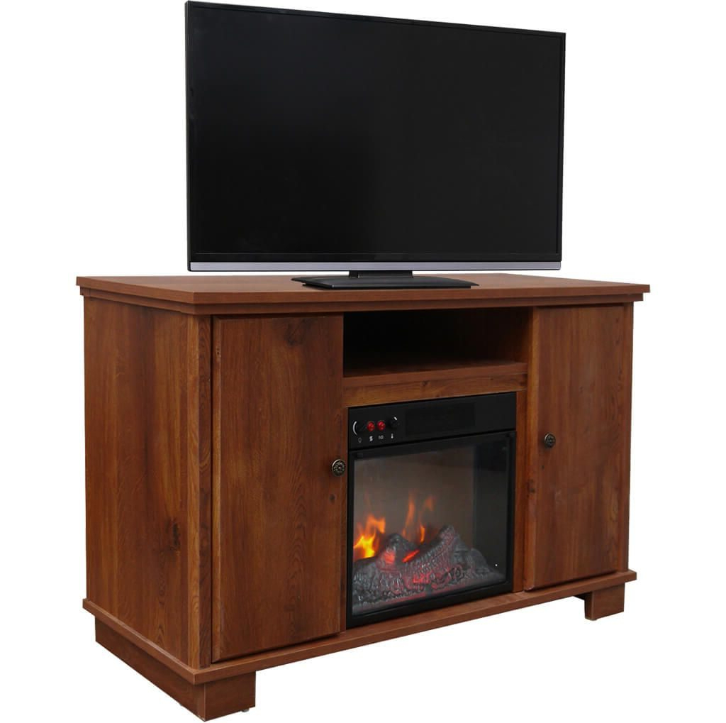 Tv Stands For Small Rooms Regarding Recent Furniture: Fascinating Cherry Finish Small Tv Stand For Bedroom (View 17 of 20)