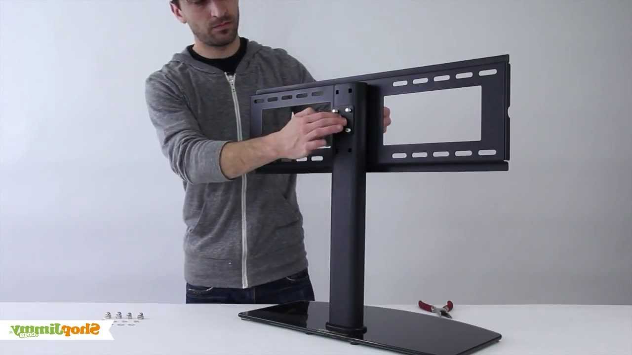 """Tv Stands For Tube Tvs Regarding Favorite Shopjimmy Universal Tv Stand/base For 37"""" 55'' Tvs Install (View 15 of 20)"""