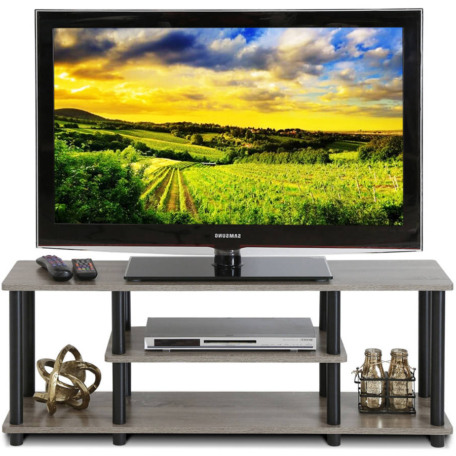 Tv Stands For Tube Tvs Within Most Recent Furinno 12250 3 Tier Tools No Turn N Tube Entertainment Tv Stand (View 11 of 20)