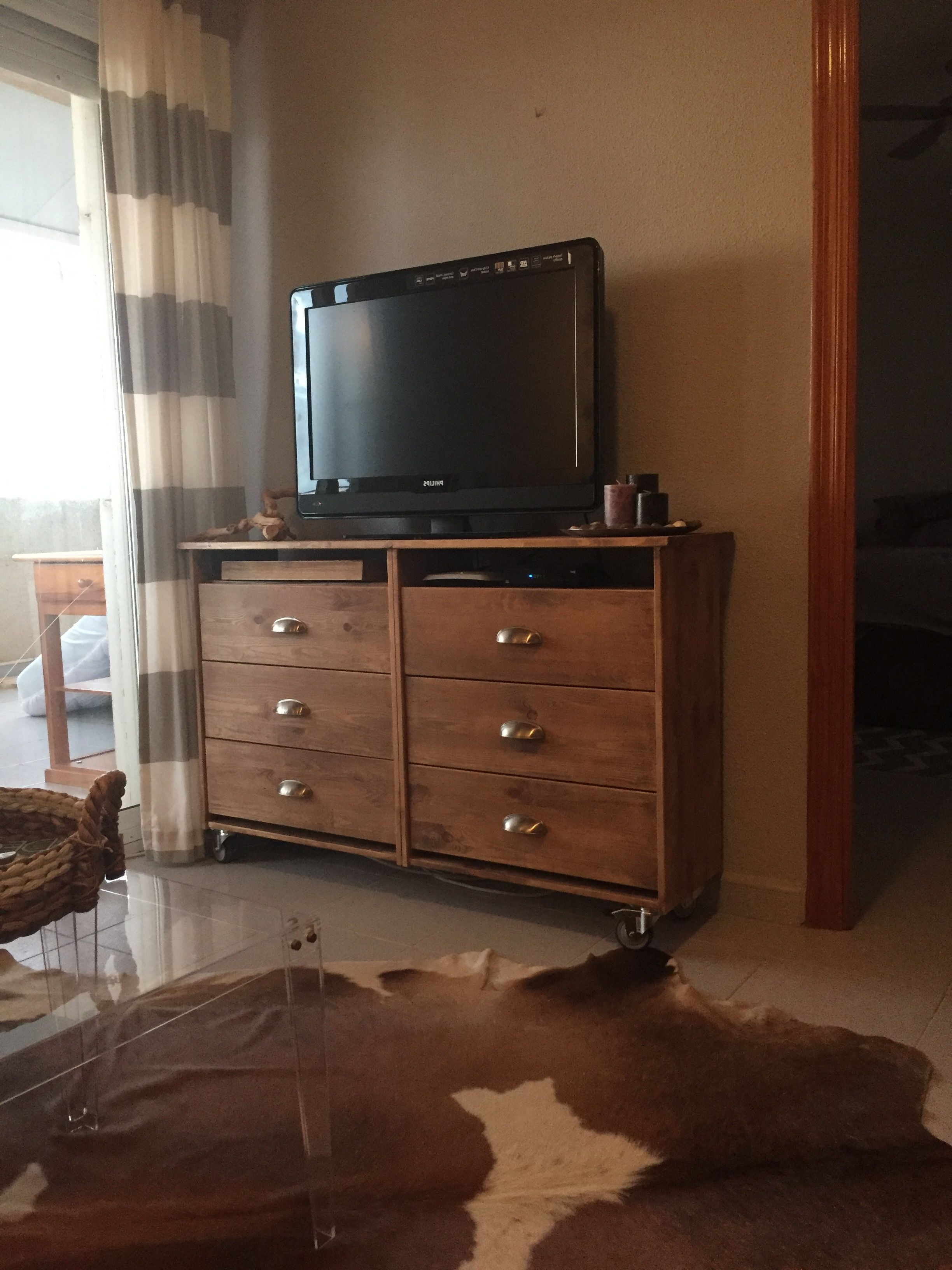 Tv Stands Over Cable Box In Most Popular Tv Stand:two Ikea Rast Night Stands Turned Upside Down (View 15 of 20)