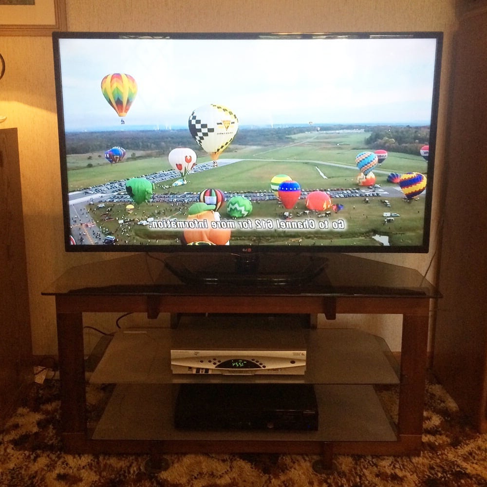 """Tv Stands Over Cable Box In Most Up To Date 50"""" Lg Smart Led Tv On A Table Stand Connected A New Cable Box And A (View 2 of 20)"""