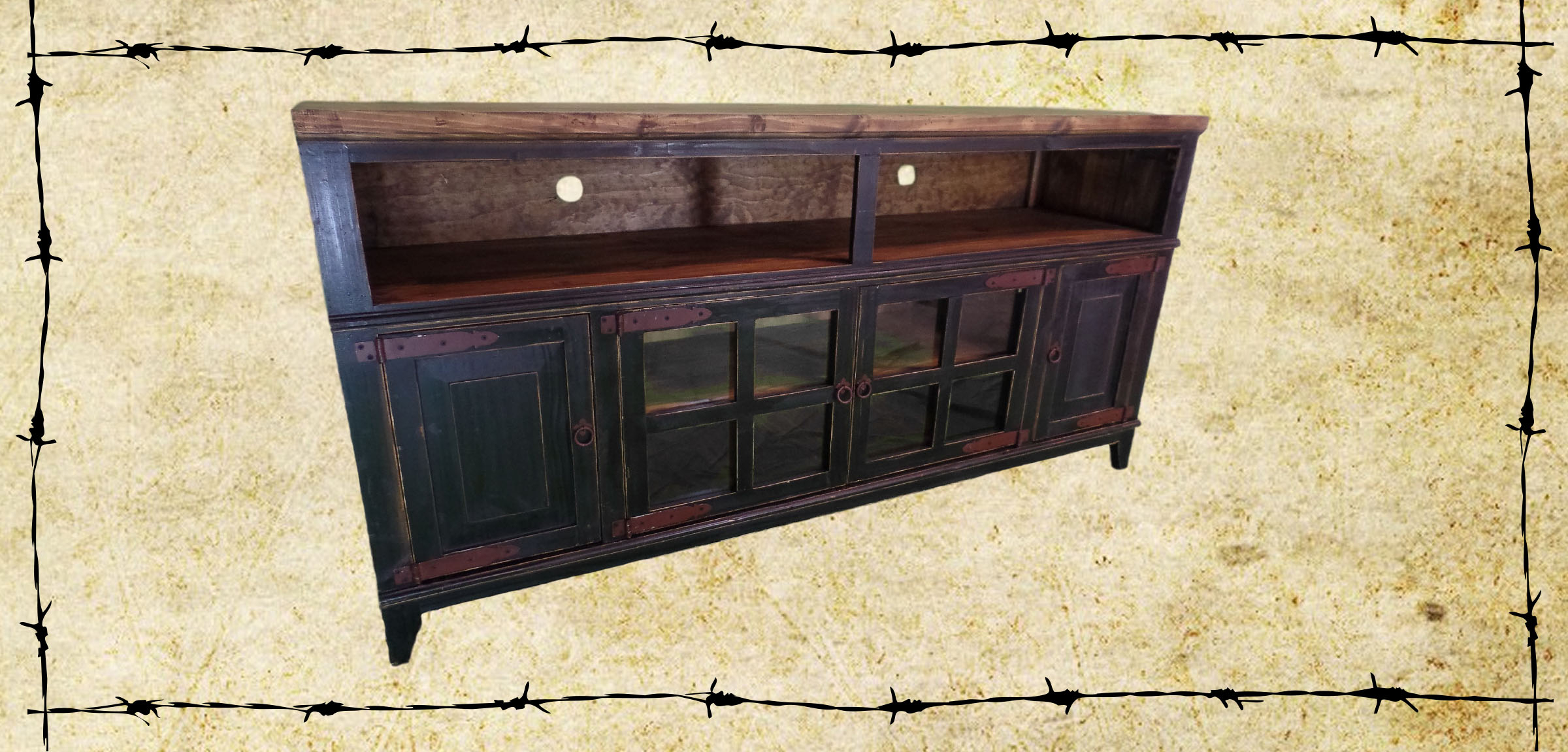 Tv Stands – Ricky Rustics Within Most Popular Red Tv Cabinets (View 17 of 20)