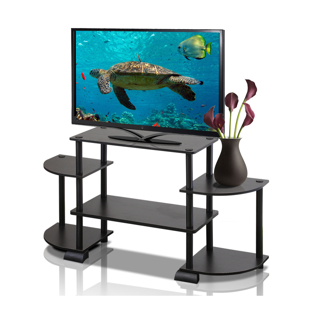 """Tv Stands Rounded Corners Throughout 2018 Furinno 12258 Turn N Tube Round Corner Tv Stand For Up To 37"""" Tv (View 13 of 20)"""