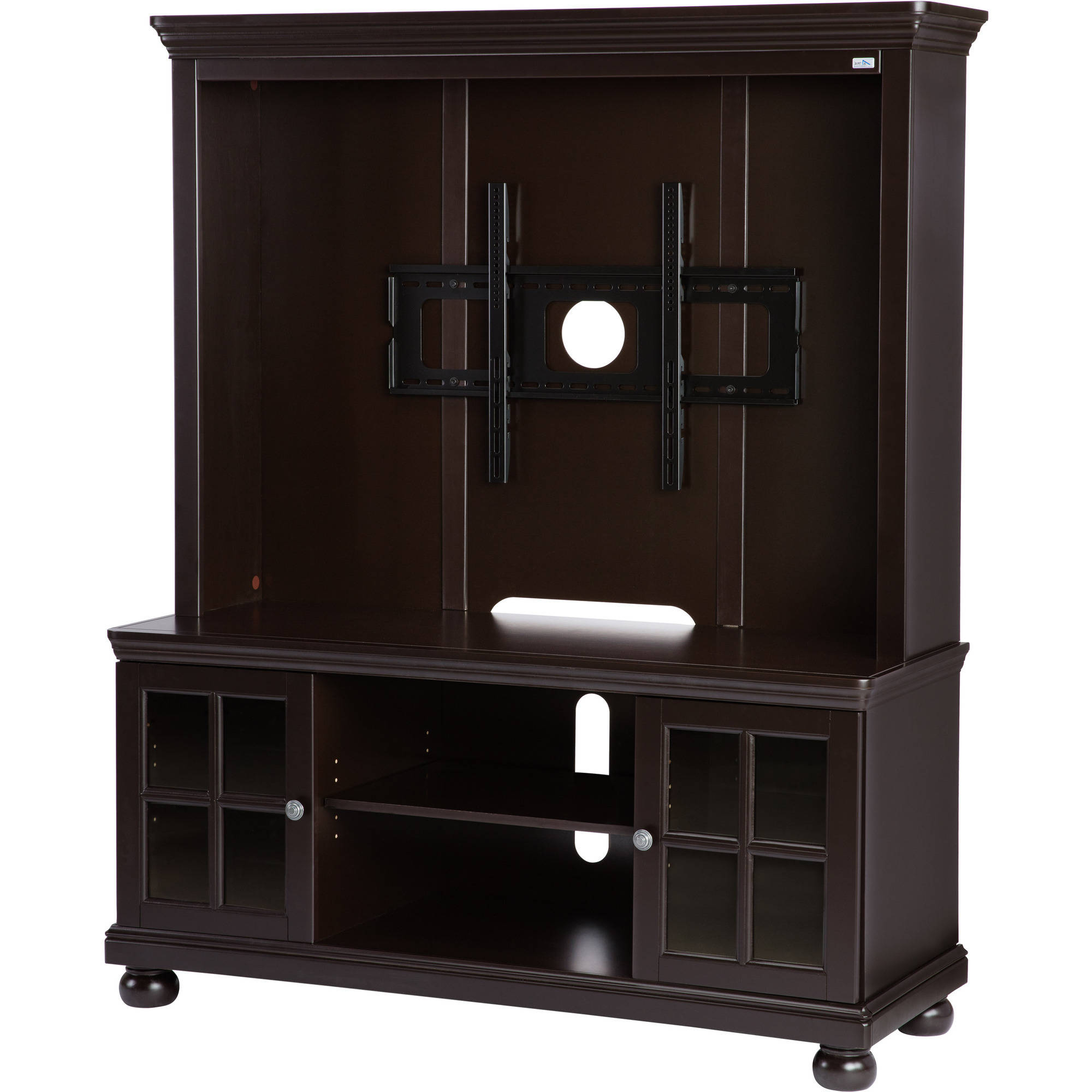 """Tv Stands With Back Panel For Most Recent Details About Better Homes And Gardens Espresso Tv Stand With Hutch, For Tvs Up To 50"""" (View 4 of 20)"""