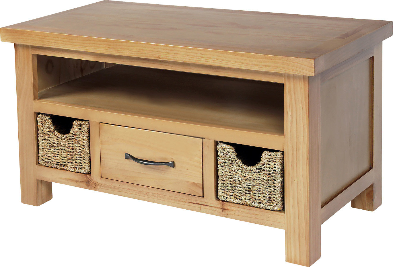 Tv Stands With Baskets Intended For 2017 Tv Stand With Wicker Baskets (View 5 of 20)