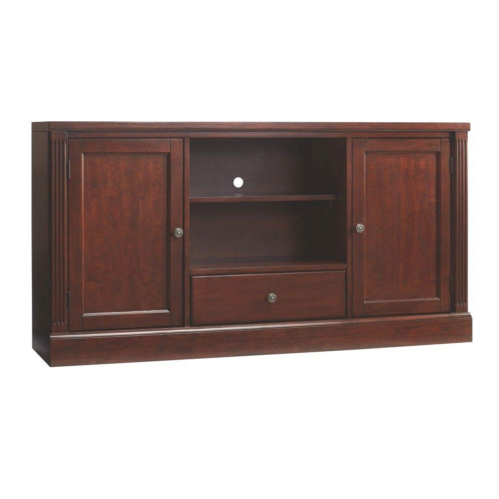 Tv Stands With Bookcases With Regard To Well Known Hillsdale Furniture Edinburgh Espresso Modular Tv Stand 6237  (View 14 of 20)