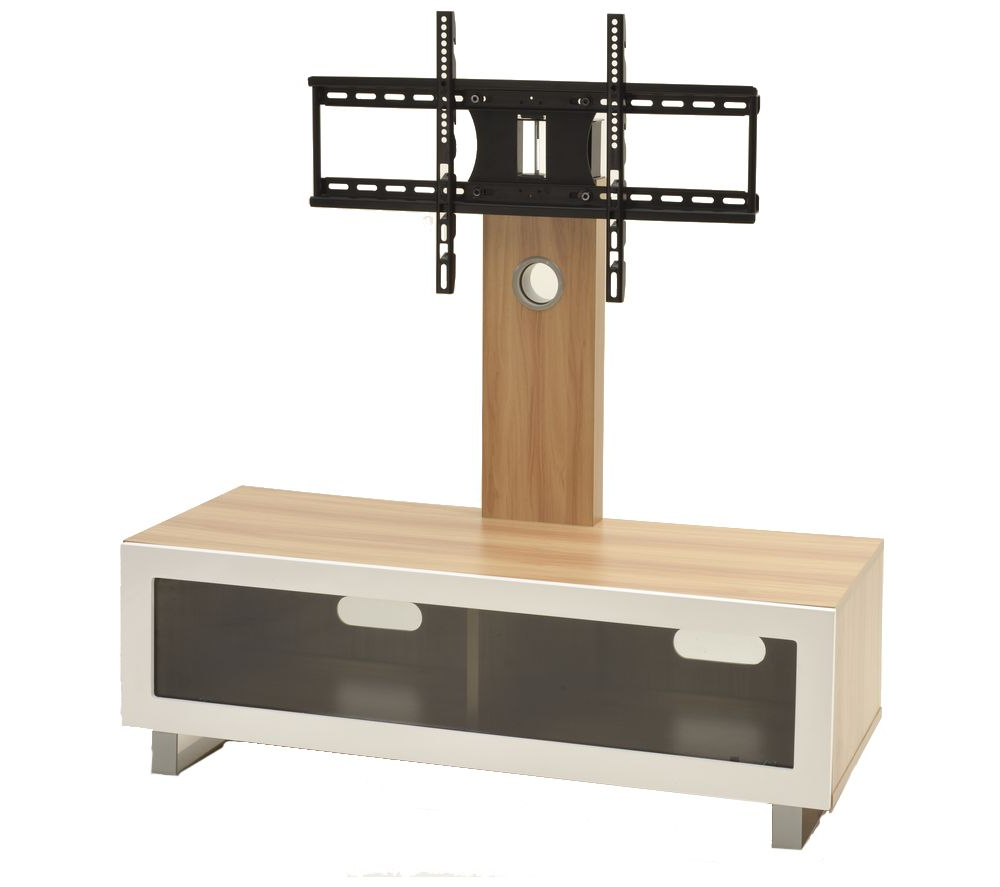 Tv Stands With Bracket Inside Most Popular Ttap Tvs1001 Tv Stand With Bracket – Light Oak Deals (View 5 of 20)
