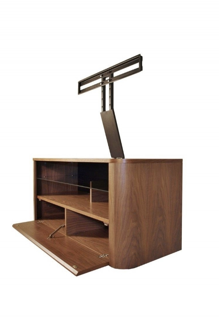 Tv Stands With Bracket Pertaining To 2017 Alphason Hugo Tv Stand Adh1260 Wal Walnut With Bracket (View 6 of 20)