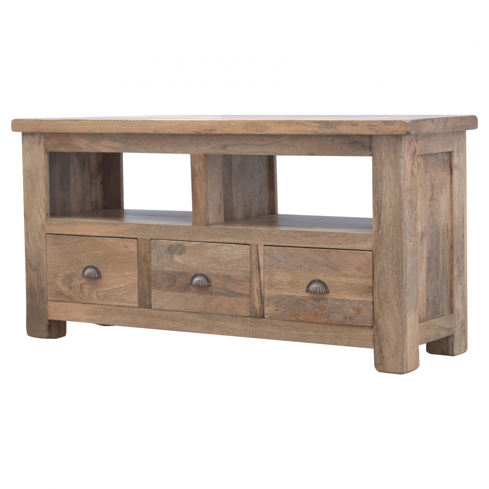 Tv Stands With Drawers And Shelves Throughout Trendy Handmade Mango 3 Drawer 1 Shelf Tv Stand (View 8 of 20)