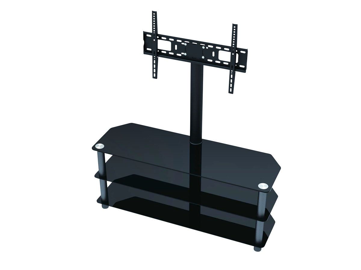 Tv Stands With Mount Regarding Most Recently Released Monoprice High Quality Tv Stand With Fixed Tv Wall Mount Bracket For (View 18 of 20)