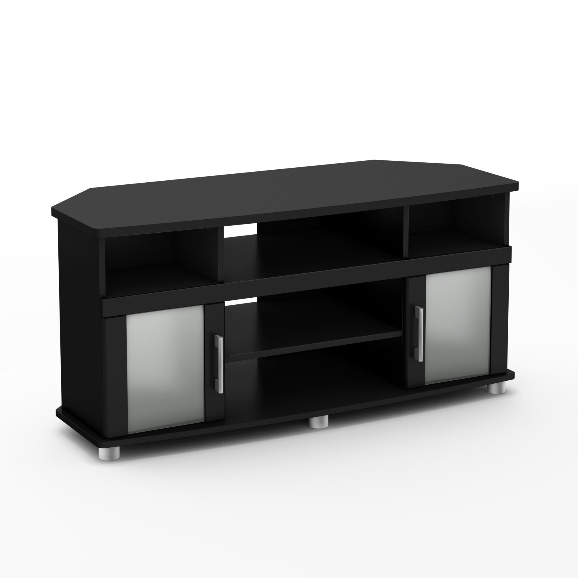 Tv Stands With Rounded Corners Inside Most Popular South Shore City Life Corner Tv Stand, For Tvs Up To 50 Inches (View 15 of 20)